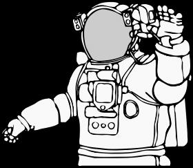 Astronaut Free Clip Art Clip Art Moon Drawing
