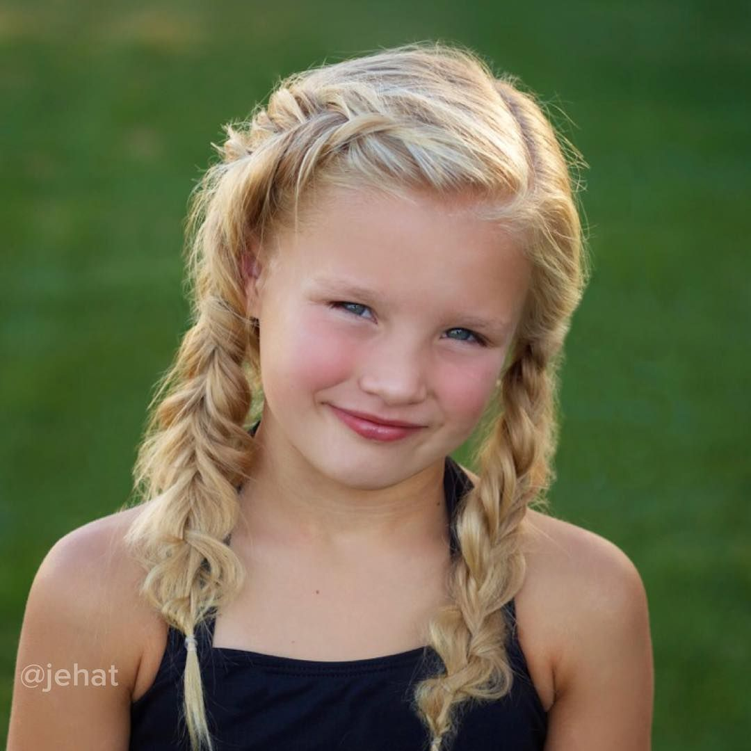 jehat hair — braided pigtails on my gorgeous hallie! right is