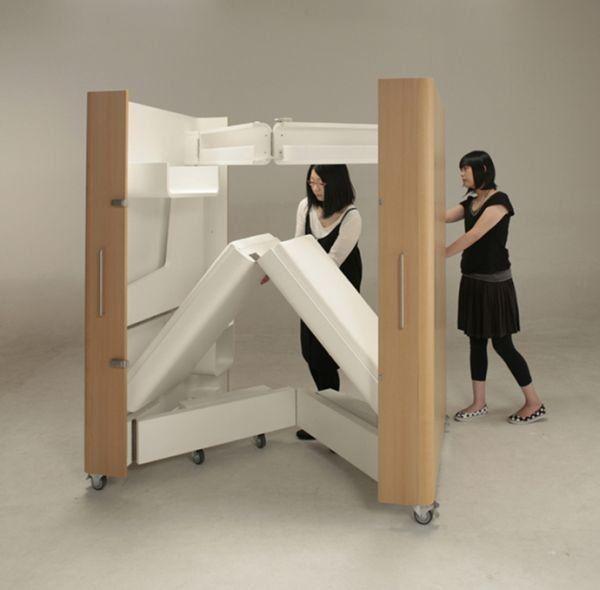 Kenchikukagu Folding Furniture Foldable Furniture Small Room