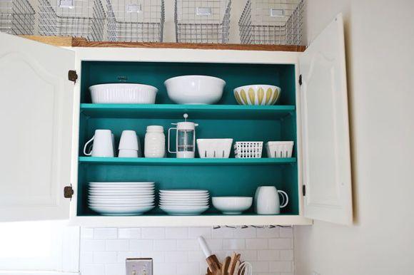 Para fazer em casa armários coloridos por dentro - Creer Un Plan De Maison