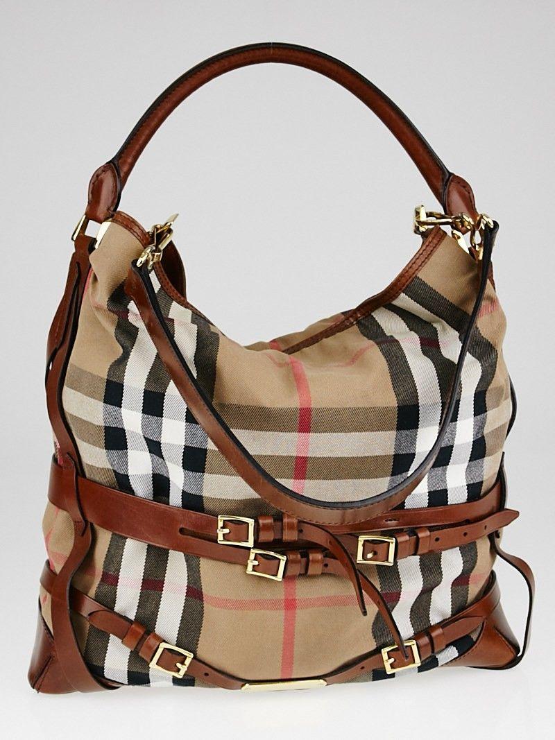 98bdcfb8ff56 Buy burberry bridle house check hobo bag  Free shipping for ...