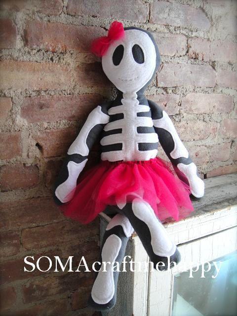cute girl skeleton doll