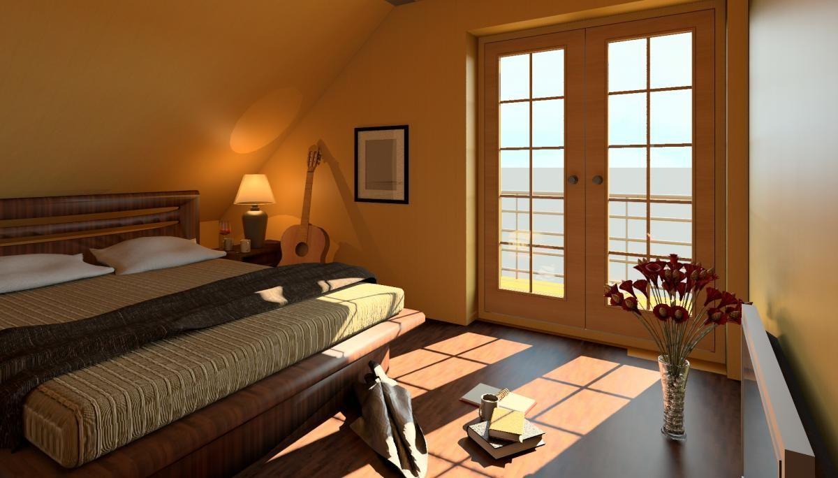 Renders 3d For Master Bedroom Project: Revit Rendering Of Room