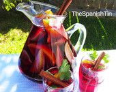 This from The Spanish Tin, is absolutely delish! Spiced Sangria Kit, Holiday Cocktail Kit, Hot or Cold Sangria, New Years Gift, Food Gift under 25