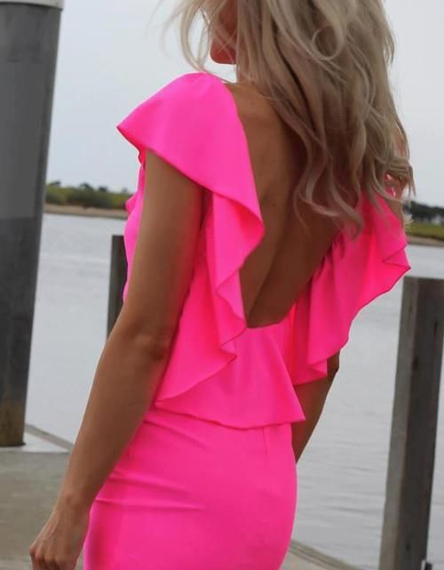 LOVING this hot pink dress for Vegas... | Lucia Apparel (passion for ...