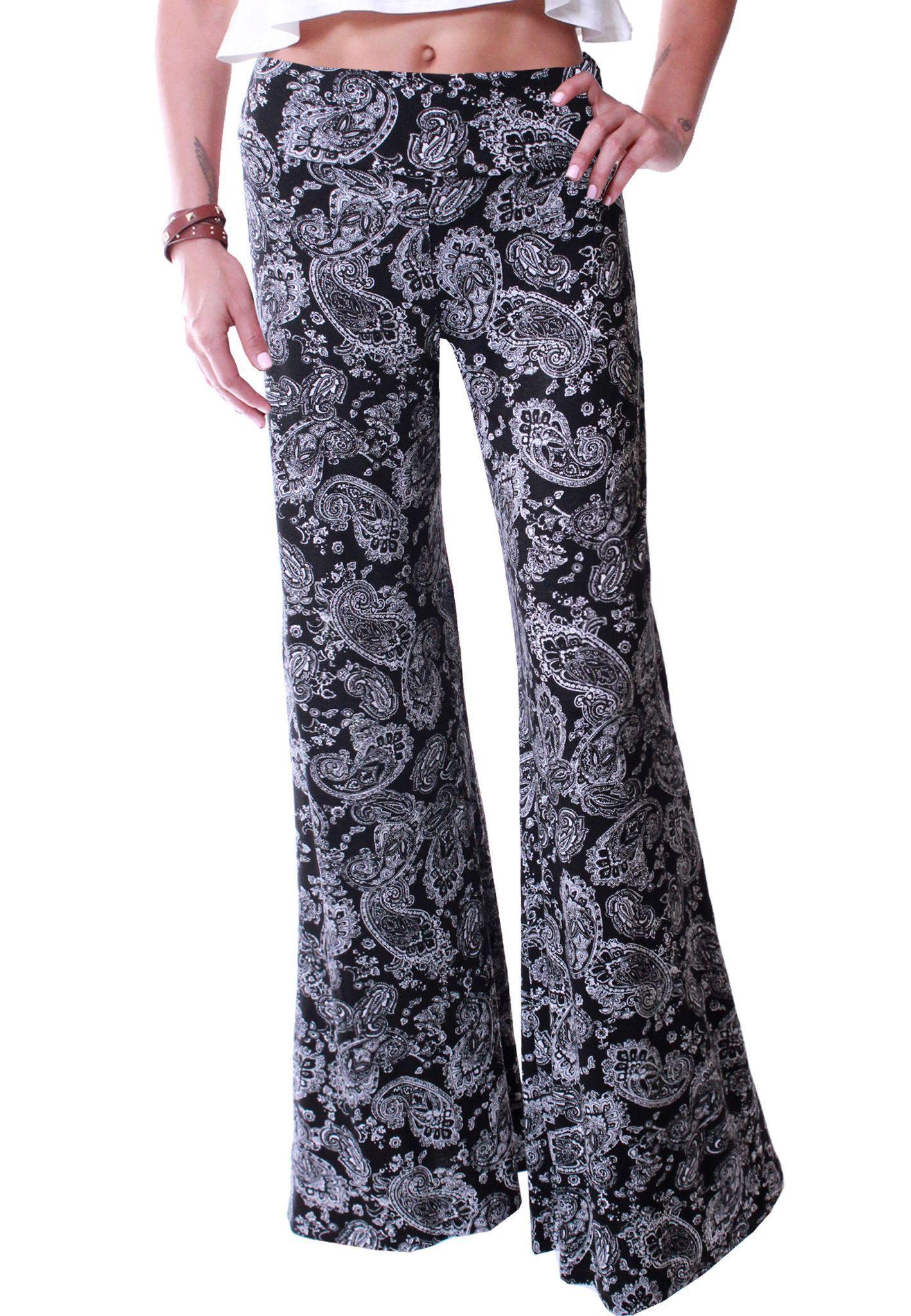 High Waist Printed Palazzo Wide Leg Pants - P6235