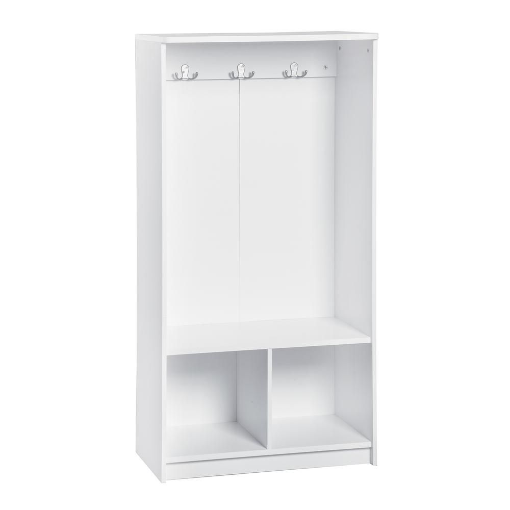Closetmaid Kidspace 24 In X 50 In H White 2 Cube 3 Hook Storage