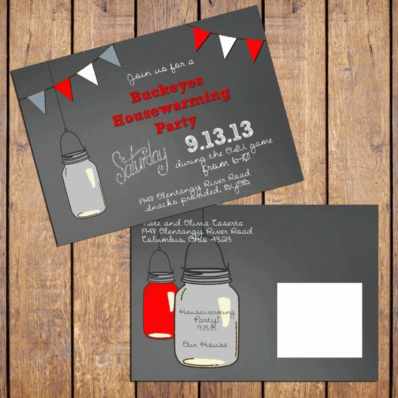 Ohio State Buckeyes Housewarming Party Invitation by DashCompany
