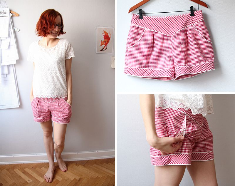 Gingham Chataigne shorts | Nähzimmerblog – A Blog About Sewing and Handmade Stuff