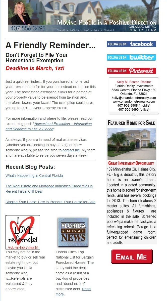 Homestead Exemption  Information And Deadline To File In Florida