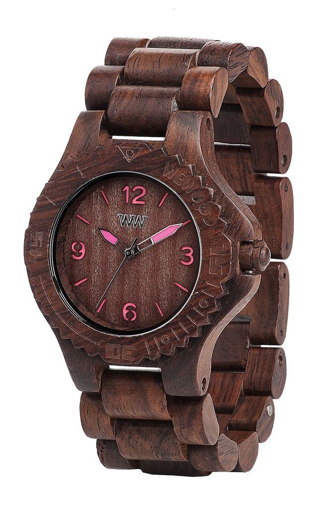 Kale Choco Pink Wood Watch Wewood Wood