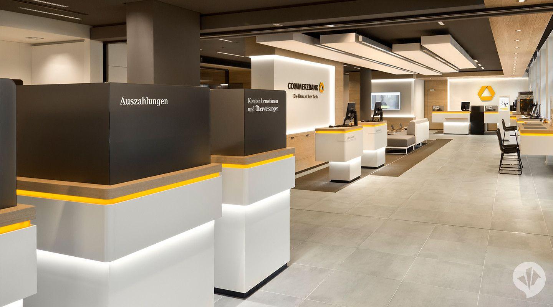 Commerzbank Flagship Filiale Dan Pearlman Group Bank Interior Design Office Space Design Bank Design