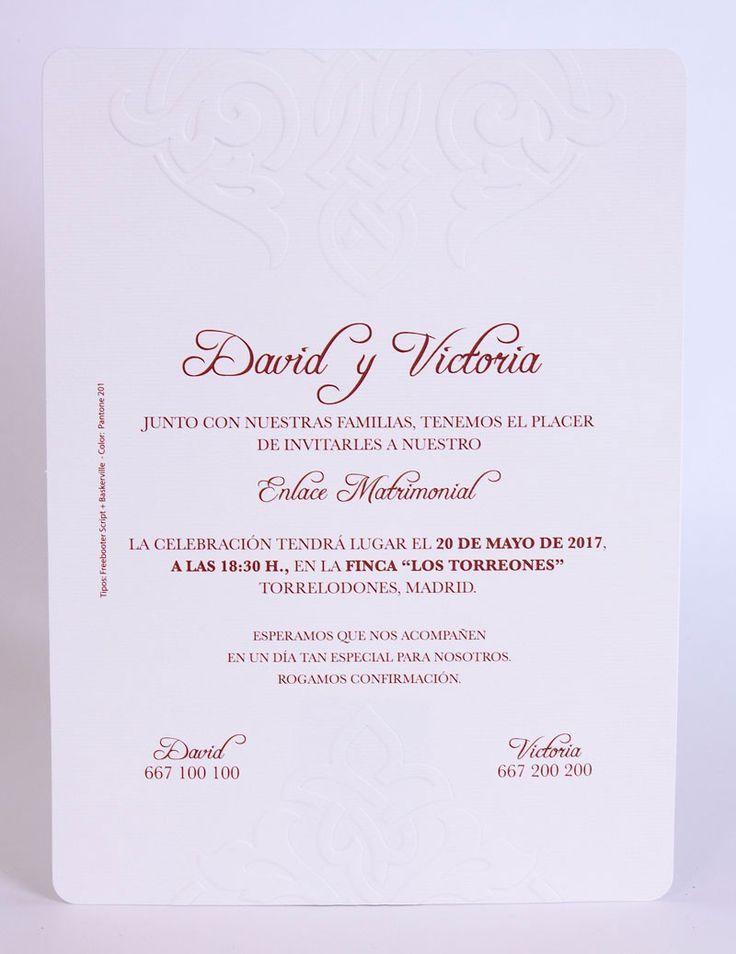 Resultado De Imagen Para Invitaciones De Boda En Espanol Texto Spanish Wedding Invitations Script Wedding Invitations Wedding Invitation Samples