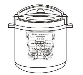cook s essentials electric pressure cooker manual electric rh pinterest com pressure cooker manuals free download pdf pressure cooker manual pdf