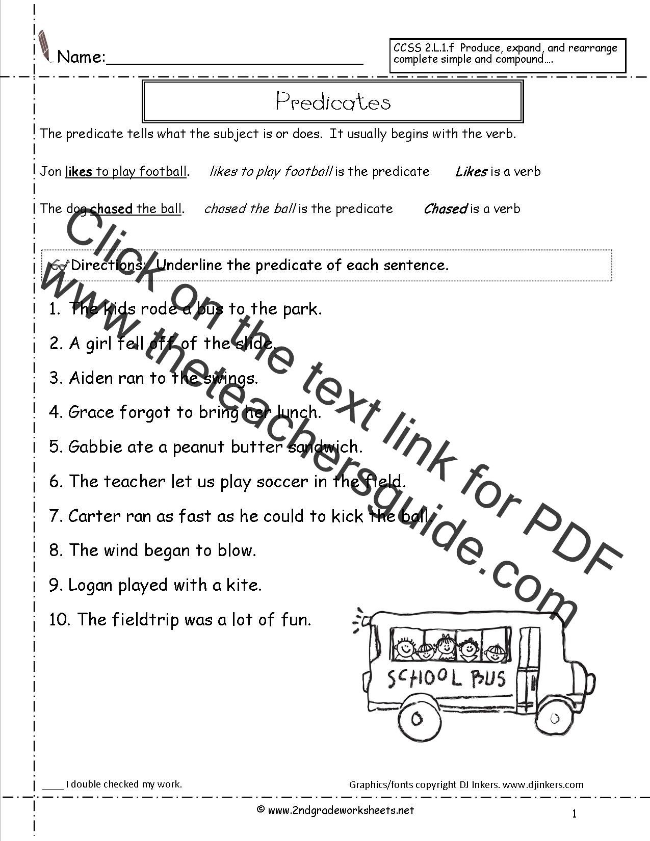 small resolution of Topic Sentence Worksheets 2nd Grade   Complex sentences worksheets