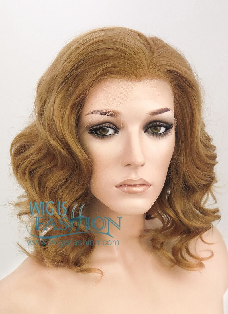 """11"""" Short Curly Brown Lace Front Synthetic Hair Wig LF290"""