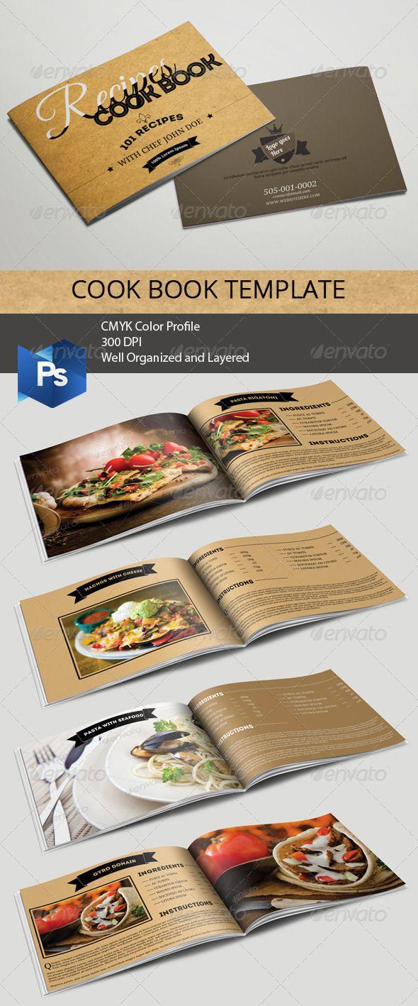 Cookbook Template | Recetario, Encuadernar libros y Diseño editorial