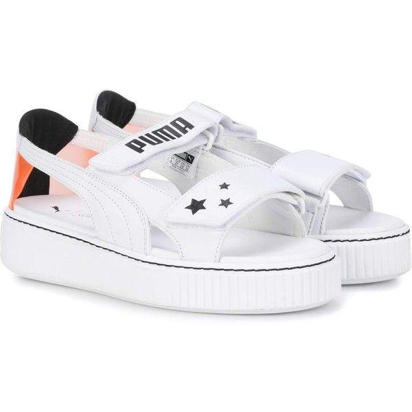 Genuine leather shoes, Platform sandals