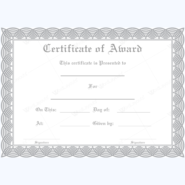 Free funny award certificates templates editable award of formal award certificate templates yadclub Images