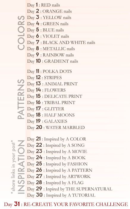 31 Day Challenge 31 Day Challenge Nail Art Blog How To Do Nails