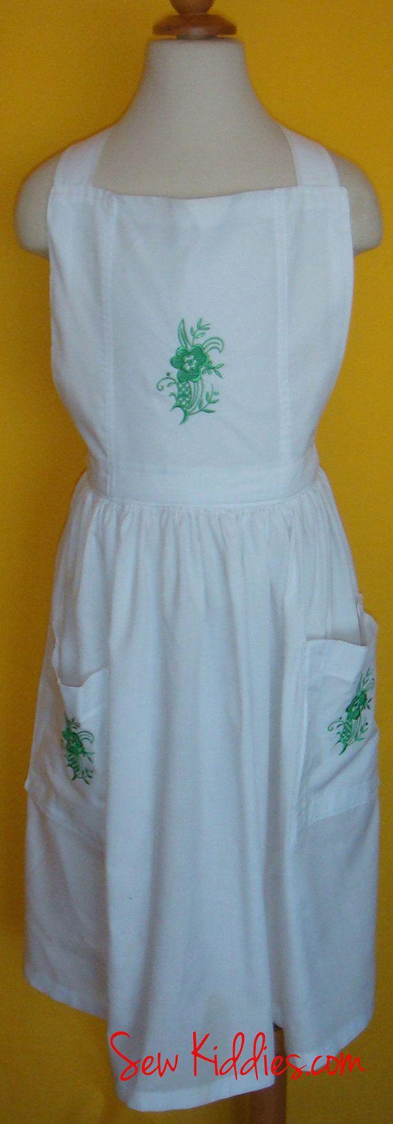 White apron etsy - Child White Apron By Sewkiddies On Etsy 30 00