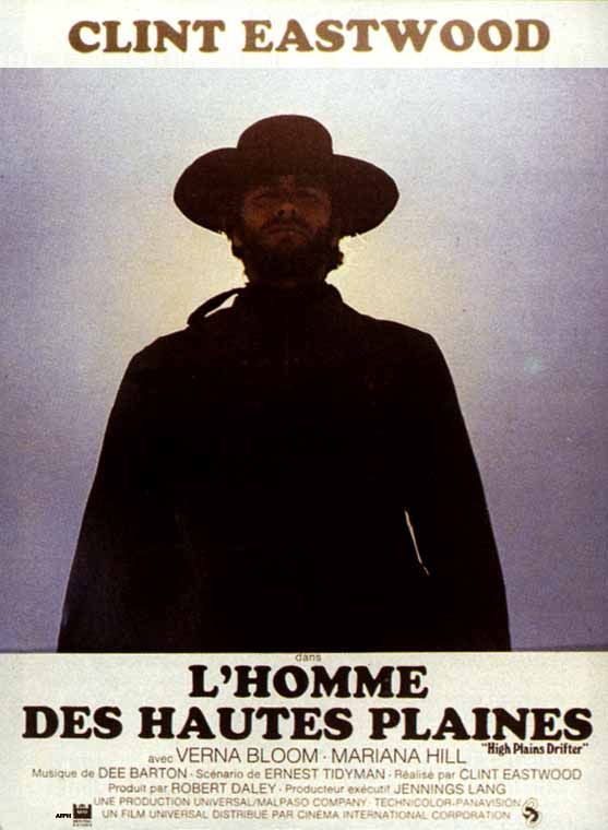 French poster for HIGH PLAINS DRIFTER (1973) Directed by