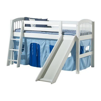 Camaflexi C50 Arch Spindle Low Loft Bed With Slide Arch Spindle Low Loft Bed With Slideloft Beds Are An Intelligent Solu Low Loft Beds Bed With Slide Loft Bed