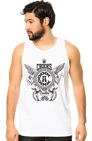 The High Society Tank in White by Crooks and Castles