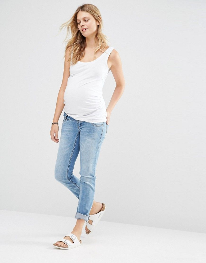 958e6f53d778a Image 4 of New Look Maternity Scoop Neck Vest Top | Maternity Style ...