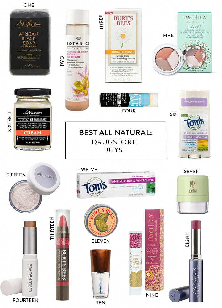 all natural drugstore beauty favorites Charmingly Styled