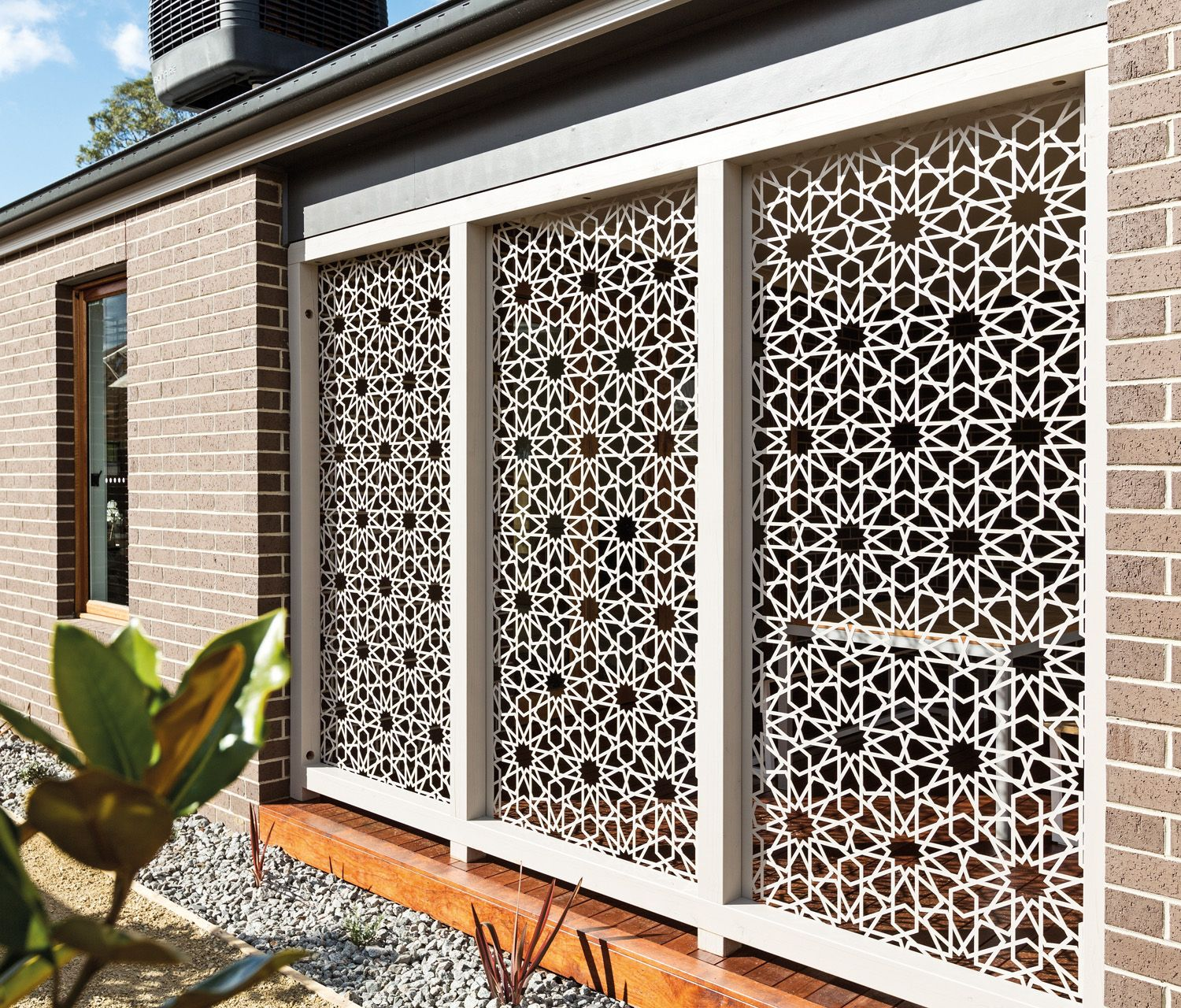 Metal Privacy Screen use stamped tin in garden |  your outdoor space with designer