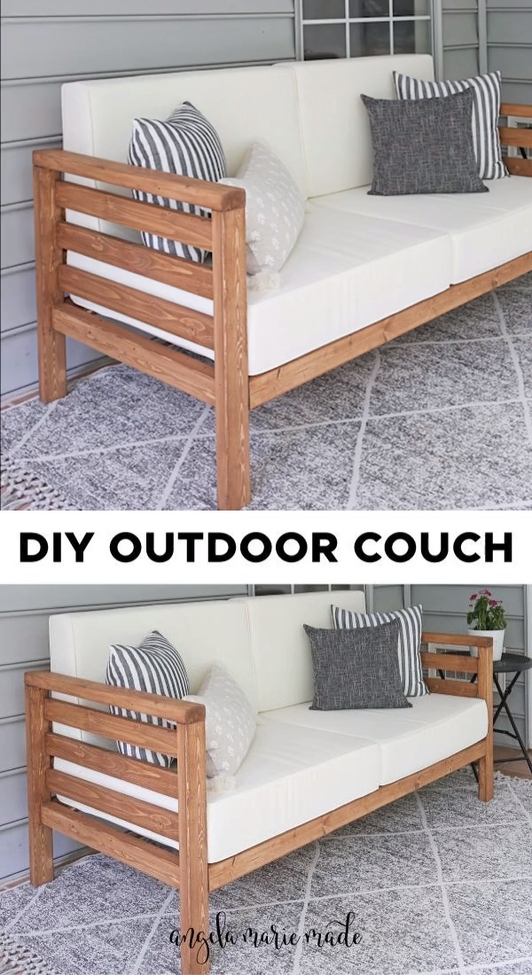 DIY Outdoor Couch - Angela Marie Made