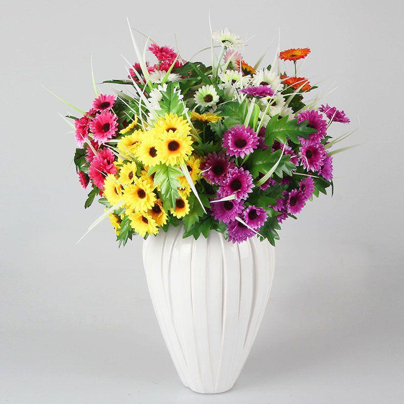 Nearly natural silk flower chrysanthemum artificial with optional nearly natural silk flower chrysanthemum artificial with optional multi color 40 flowers per bush wholesale mightylinksfo