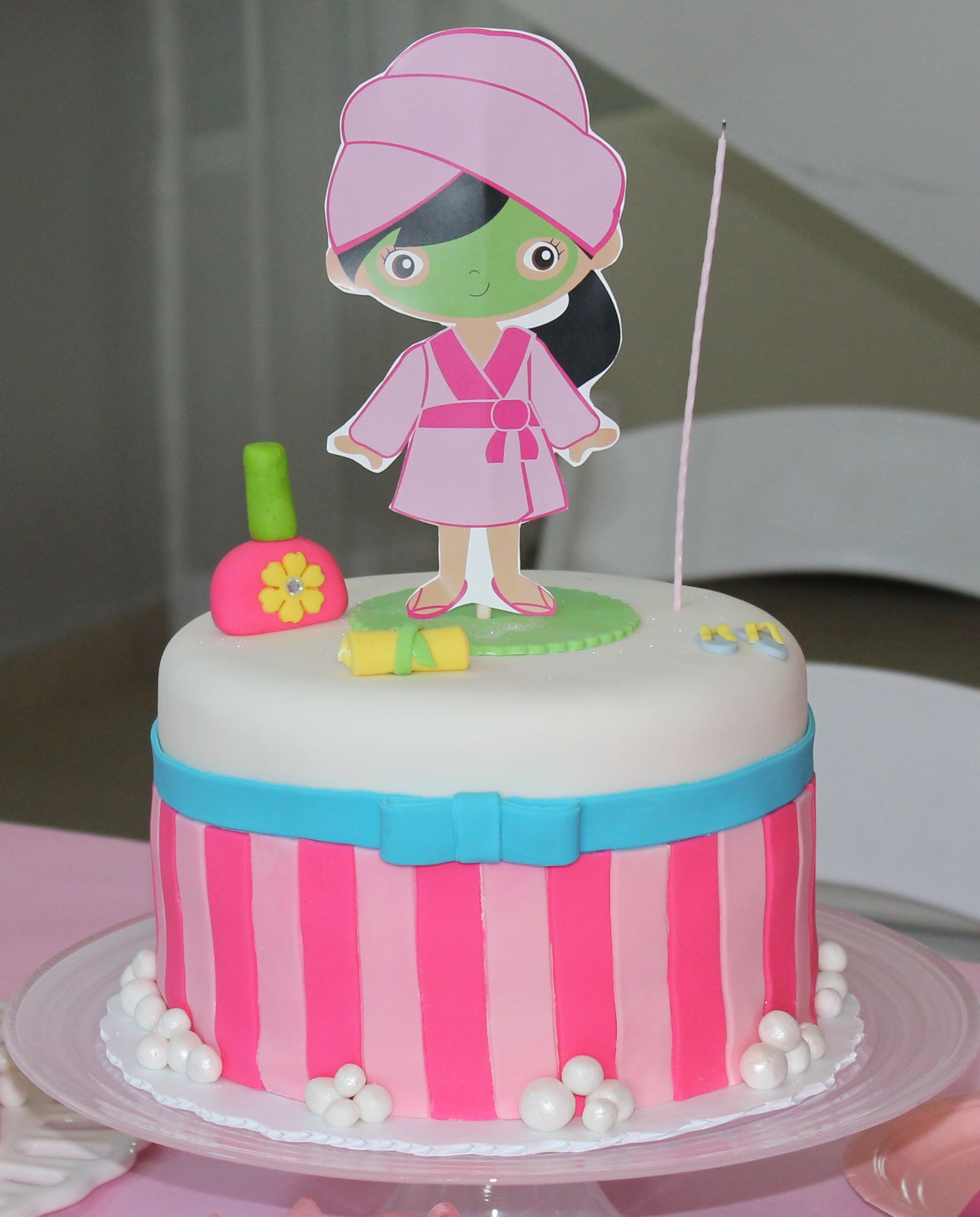Girl Spa Birthday Cake Girl Birthday Party Pinterest ...
