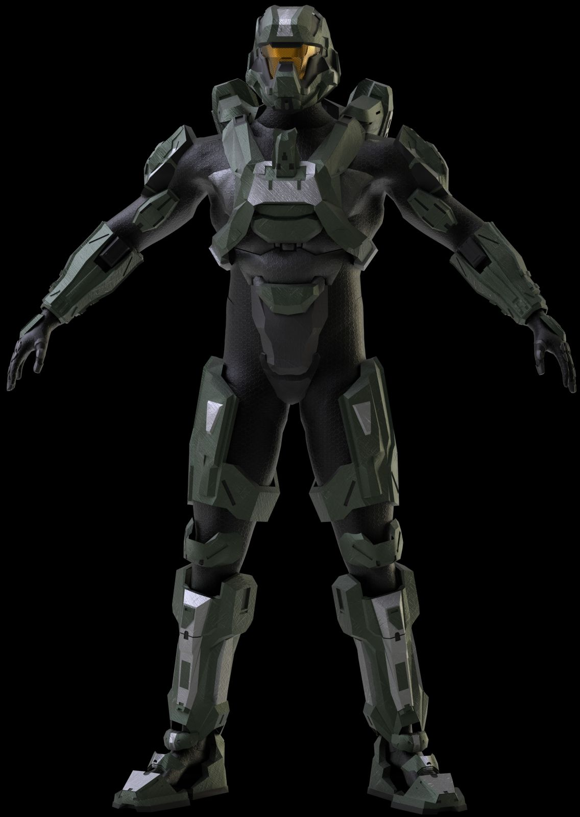 Halo 4 Recruit armor (3D Model build) - Page 3 | Halo