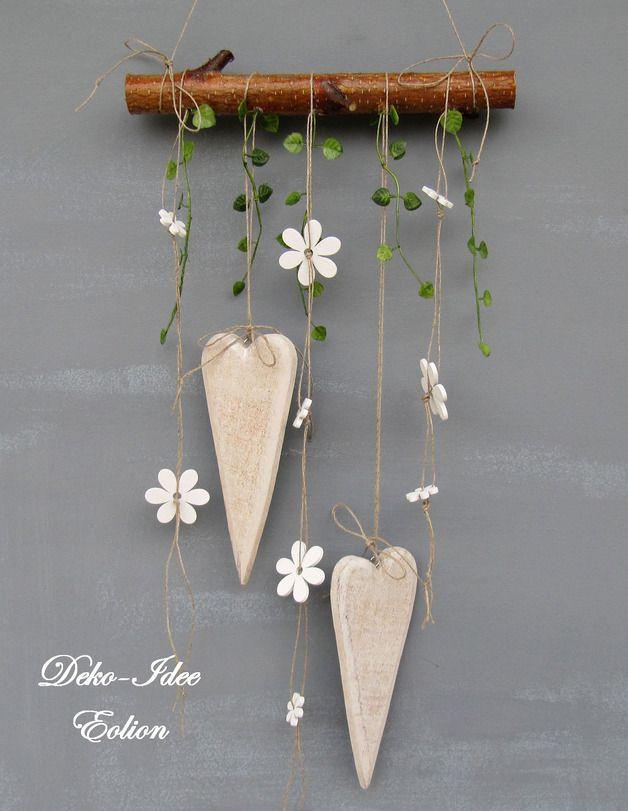 """Fensterschmuck - Fensterhänger Fensterschmuck """"Herzen & Blüten"""" - ein Designerstück von Deko-Idee-Eolion bei DaWanda"""