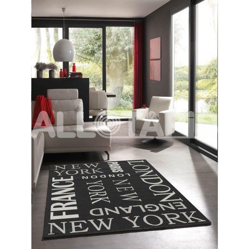 Tapis Design Pour Intérieur Ou Terrasse Noir Prime Tapis Design - Carrelage terrasse et tapis de souris scandinave