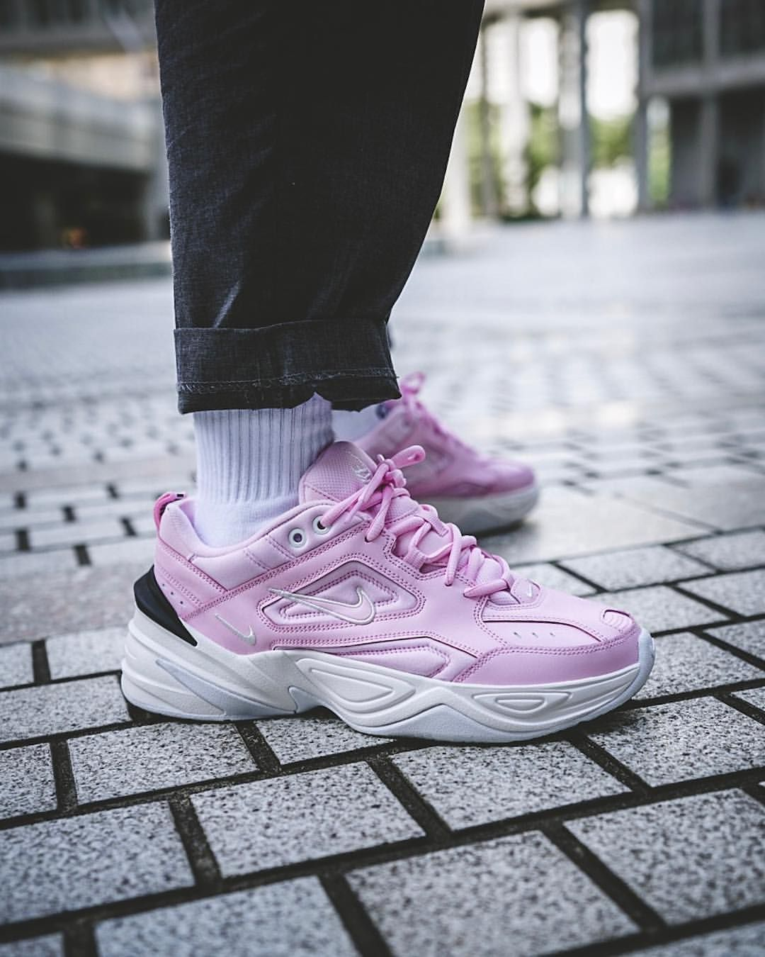 Nike M2K Tekno: Pink | Pink shoes outfit, Nike fashion