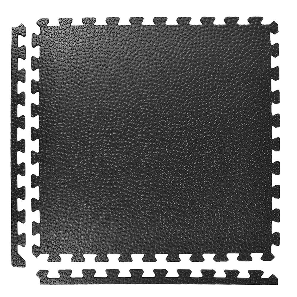 Greatmats Pebble Top Black 24 in. x 24 in. x 3/4 in. Foam