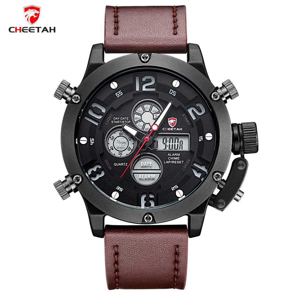 US $209.00 - CHEETAH 2016 Fashion Watches Men Luxury Brand Watches Men Leather Military Sports Quartz watch Dual Time Clock Relogio Masculino