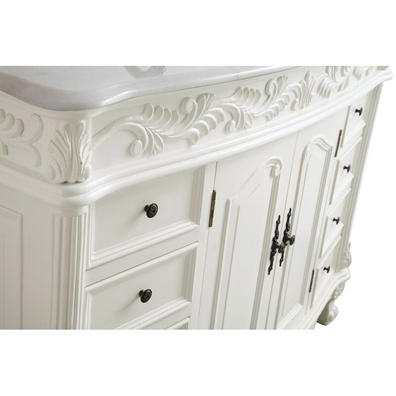 Schuyler 48 Single Bathroom Vanity Set Single Bathroom Vanity White Marble Countertops Vanity Set