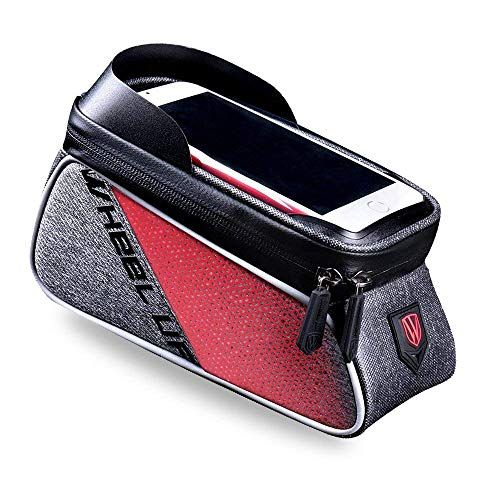 Waterproof Bike Frame Bag Front Tube Handlebar Bag with Touch Screen Phone Case