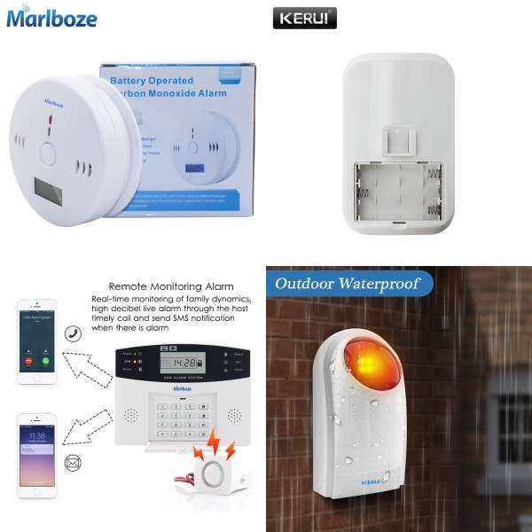 GSM Wireless Security Alarm System Home Window Door Sensor Infrared Detector Lot
