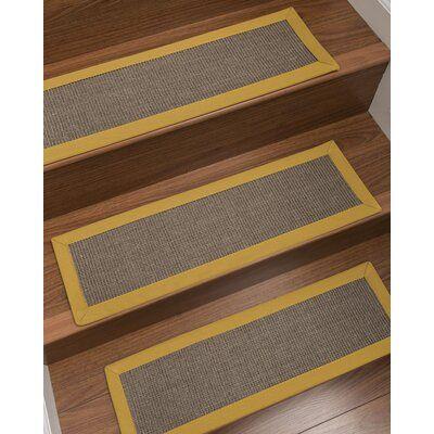 Best Bayou Breeze Kerner 100 Natural Fiber Stair Tread Diy 400 x 300