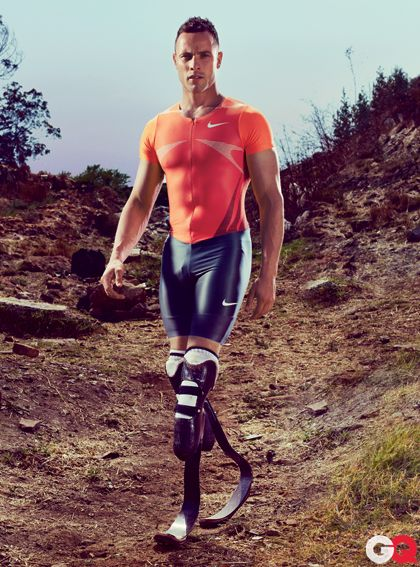 Oscar Pistorius: Double amputee and Olympic athlete.