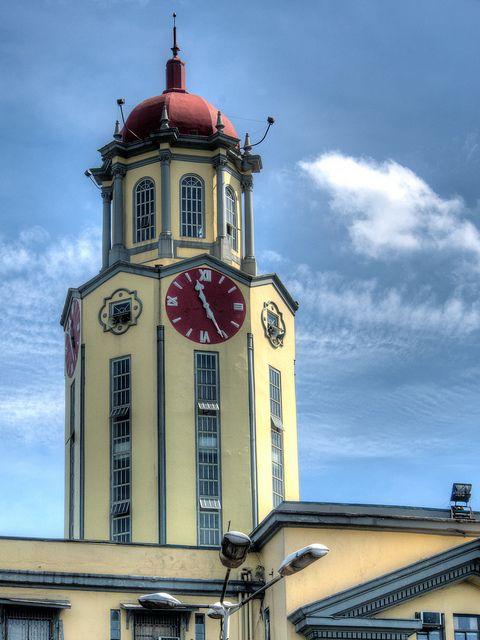 Clock Tower At The Manila City Hall Philippines