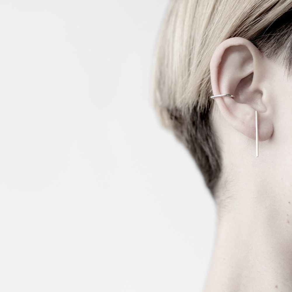 Ear piercing ideas simple  HANDMADE SOLID SILVER EAR CUFF POINTY AT THE BACK THESE ARENuT