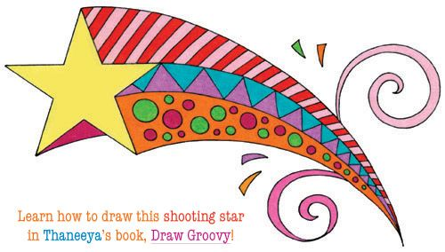 Learn How To Draw A Colorful Shooting Star In Thaneeya's