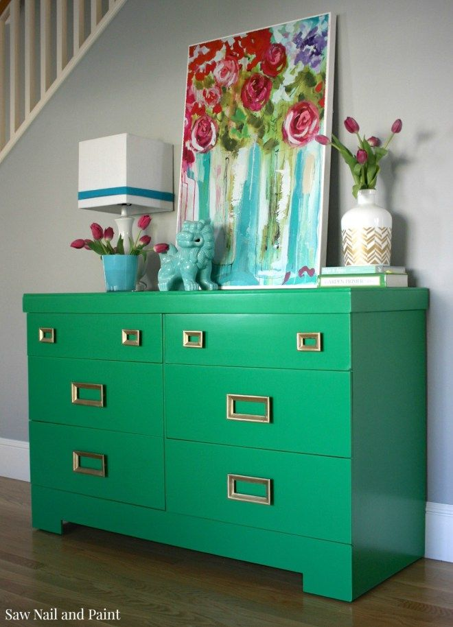 Perfect Jade Green Mid Century Dresser