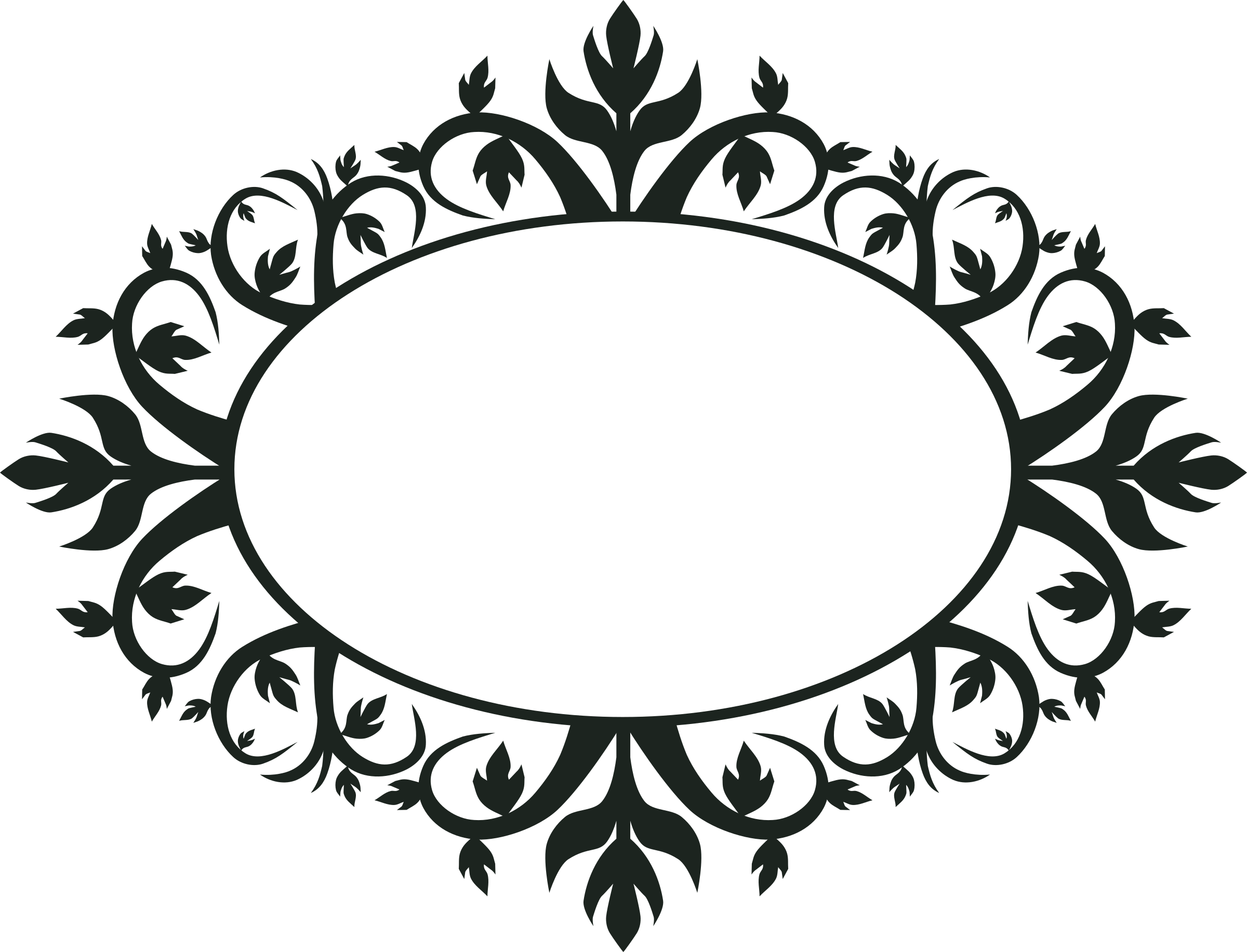 Ornament Oval Frame by jokantola | svg | Pinterest | Oval frame ...
